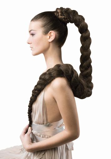 Прическа на длинные и густые волосы в домашних условиях
